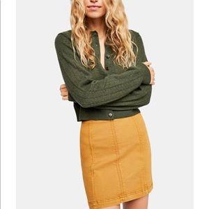 NWT Free People Modern Femme Denim Mini Skirt